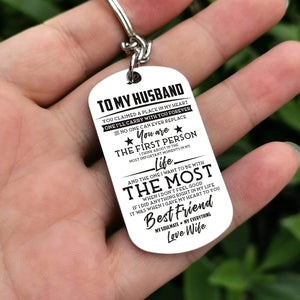 To Husband-The One I Want To Be The Most Personalized Dog Tags 6051 Keychain