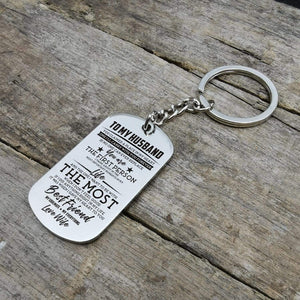To Husband-The One I Want To Be The Most Personalized Dog Tags 6051