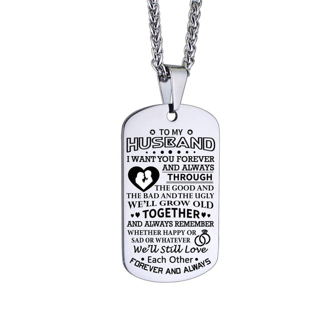 To Husband-We Will Grow Old Together Personalized Dog Tags For Birthday Gifts 6072 Necklace