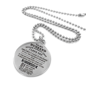 To Husband-When I Gave My Heart To You Engraved Necklace and Key Chain Necklace