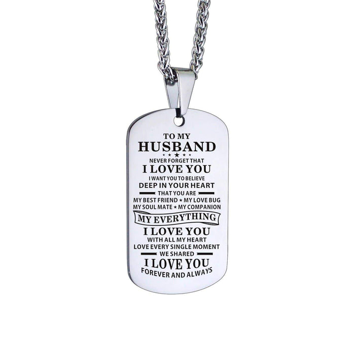 To Husband-You Are Everything Personalized Dog Tags For Birthday Anniversary Gift 6014