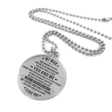 Load image into Gallery viewer, To Husband-Your And Only Yours Engraved Necklace and Key Chain Necklace