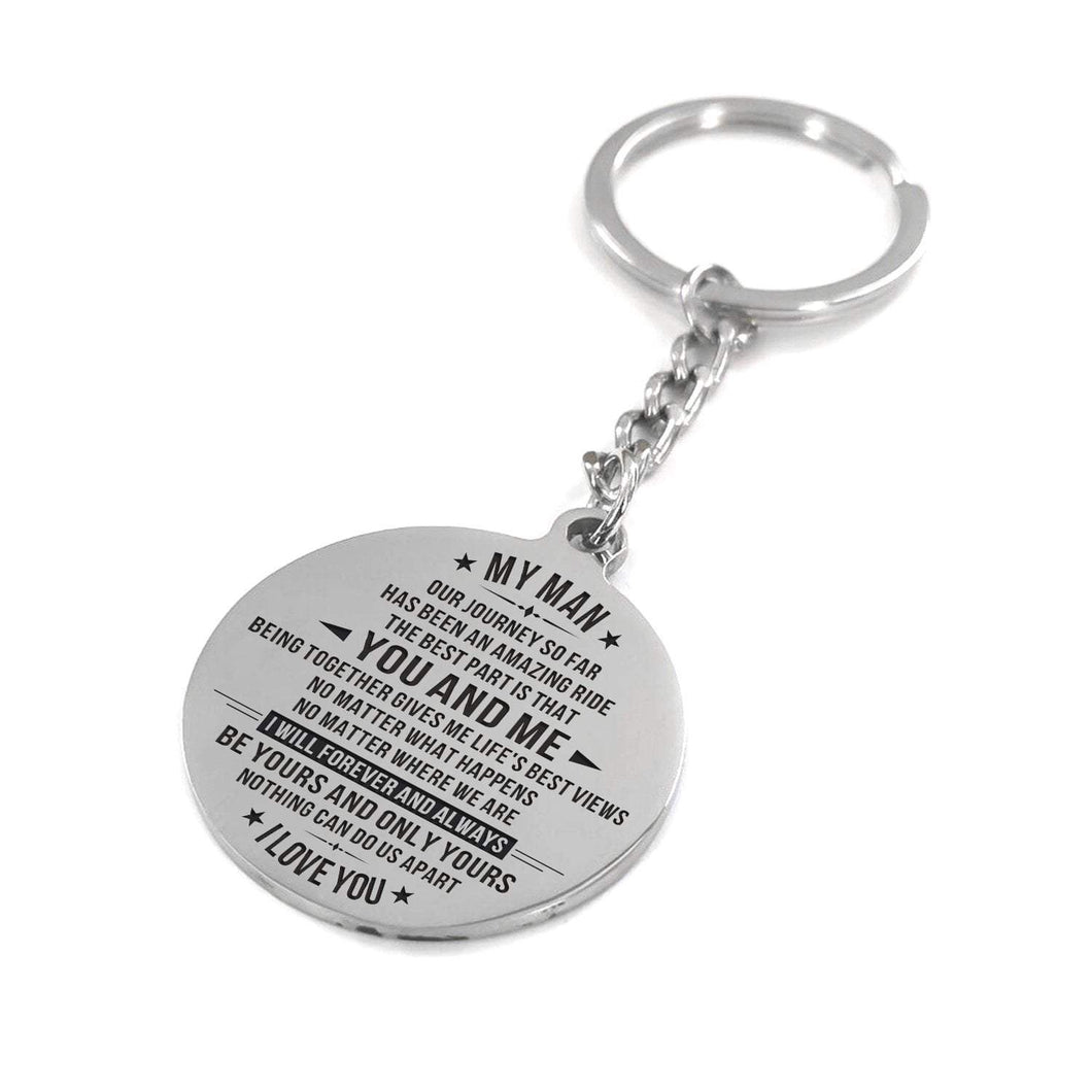 To Husband-Your And Only Yours Engraved Necklace and Key Chain Keychain
