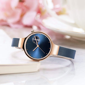 To Mom-Always Love You Personalized Three-Hand Quartz Leather Watch