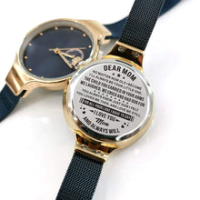 Load image into Gallery viewer, To Mom-Always Love You Personalized Three-Hand Quartz Leather Watch