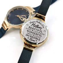 Load image into Gallery viewer, To Mom-Beautiful Incredible Mom Personalized Three-Hand Quartz Leather Watch
