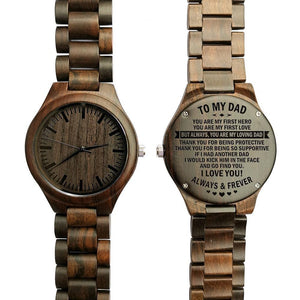 To My Dad-You Are My Loving Dad Engraved Ebony Wooden Watch Default Title