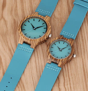 To My Daughter Blue Infinity Engraved Wooden Watch