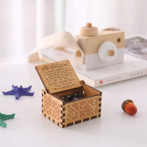 To My Daughter I Love You Mom Dad Engraved Wooden Music Box for Your Daughter Gift for Anniversary Birthday Graduation