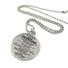 Load image into Gallery viewer, To My Father-More Than A Father Engraved Necklace and Key chain from Daughter Keychain