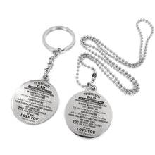 Load image into Gallery viewer, To My Father-More Than A Father Engraved Necklace and Key chain from Daughter Keychain Necklace Set