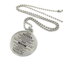 Load image into Gallery viewer, To My Father-You Are My Strength Engraved Necklace and Key chain from Daughter Necklace