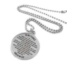 Load image into Gallery viewer, To My Fiance-Cannot Wait To Marry You Engraved Necklace and Key Chain Necklace