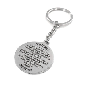 To My Fiance-Cannot Wait To Marry You Engraved Necklace and Key Chain Keychain