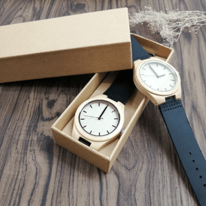 To My Fiance- Fate And Destiny Engraved Maple Wooden Watch
