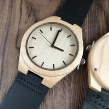 Load image into Gallery viewer, To My Fiance- You Are My Always And Forever Engraved Maple Wooden Watch