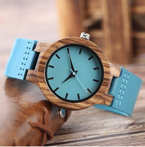 To My Future Wife Blue Infinity Engraved Wooden Watch