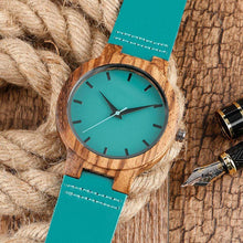 Load image into Gallery viewer, To My Girlfriend- You Are The Reason Blue Infinity Engraved Wooden Watch 2201