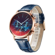Load image into Gallery viewer, Mom To Son-How Special You Are Customized Leather Stripe Metal Wrist Watch K4503