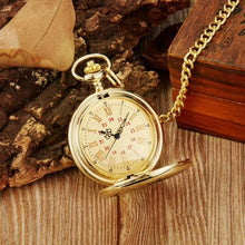 Load image into Gallery viewer, To My Son- I Love You Forever Personalized Engraved Pocket Watch Gold