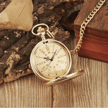 Load image into Gallery viewer, To My Son-I Love You Forever Quartz Pocket Chain Watch Silver