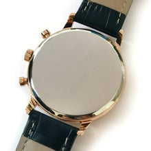 Load image into Gallery viewer, To My Son-Personalized Leather Strap Metal Engraved Wrist Watch From Mom or Dad