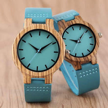Load image into Gallery viewer, To My Wife-Love You Rest Of My Life Blue Infinity Engraved Wooden Watch