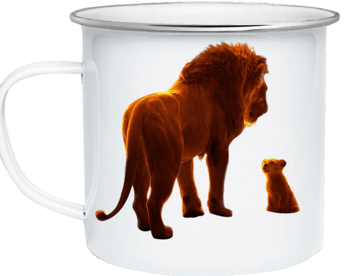 To Son-Personalized Lion King Enamel Coffee Mug Simba Mug