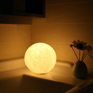To Wife 3D Printing 6 Inches Personalized Moon Lamp