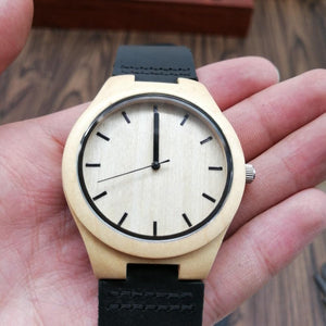 To Wife-How Special You Are To Me Engraved Wooden Watch Men
