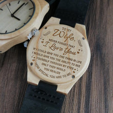 Load image into Gallery viewer, To Wife-How Special You Are To Me Engraved Wooden Watch Men