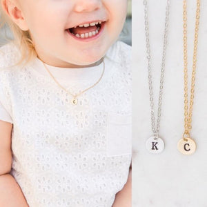 Toddler and Baby Custom Initial Name Pendant