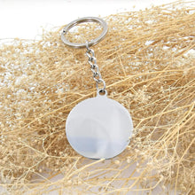 Load image into Gallery viewer, You Are My Son Engraved Key chain Circular Silver from Father
