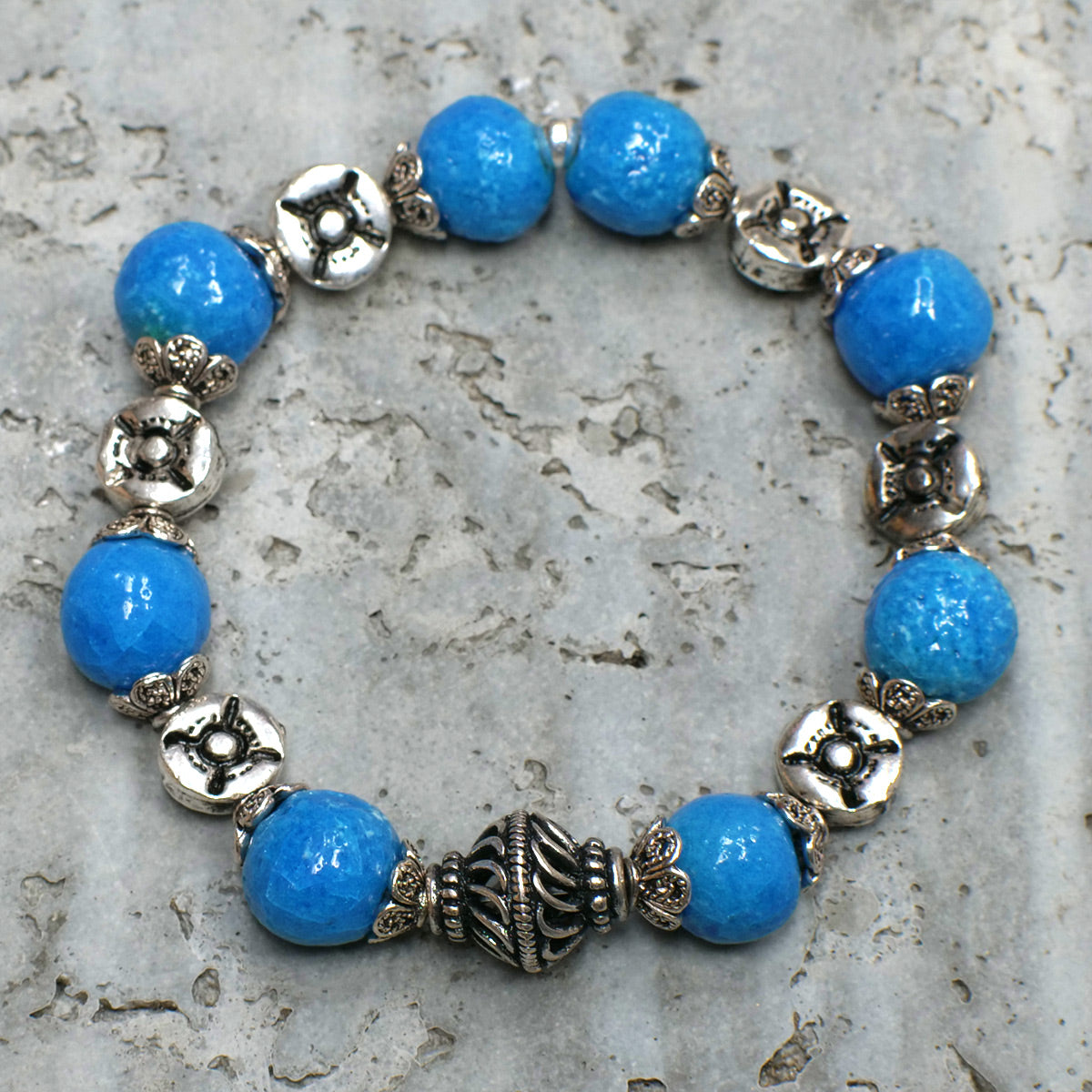 Men's Bracelet in Blue Faience - Em Hotep Collection
