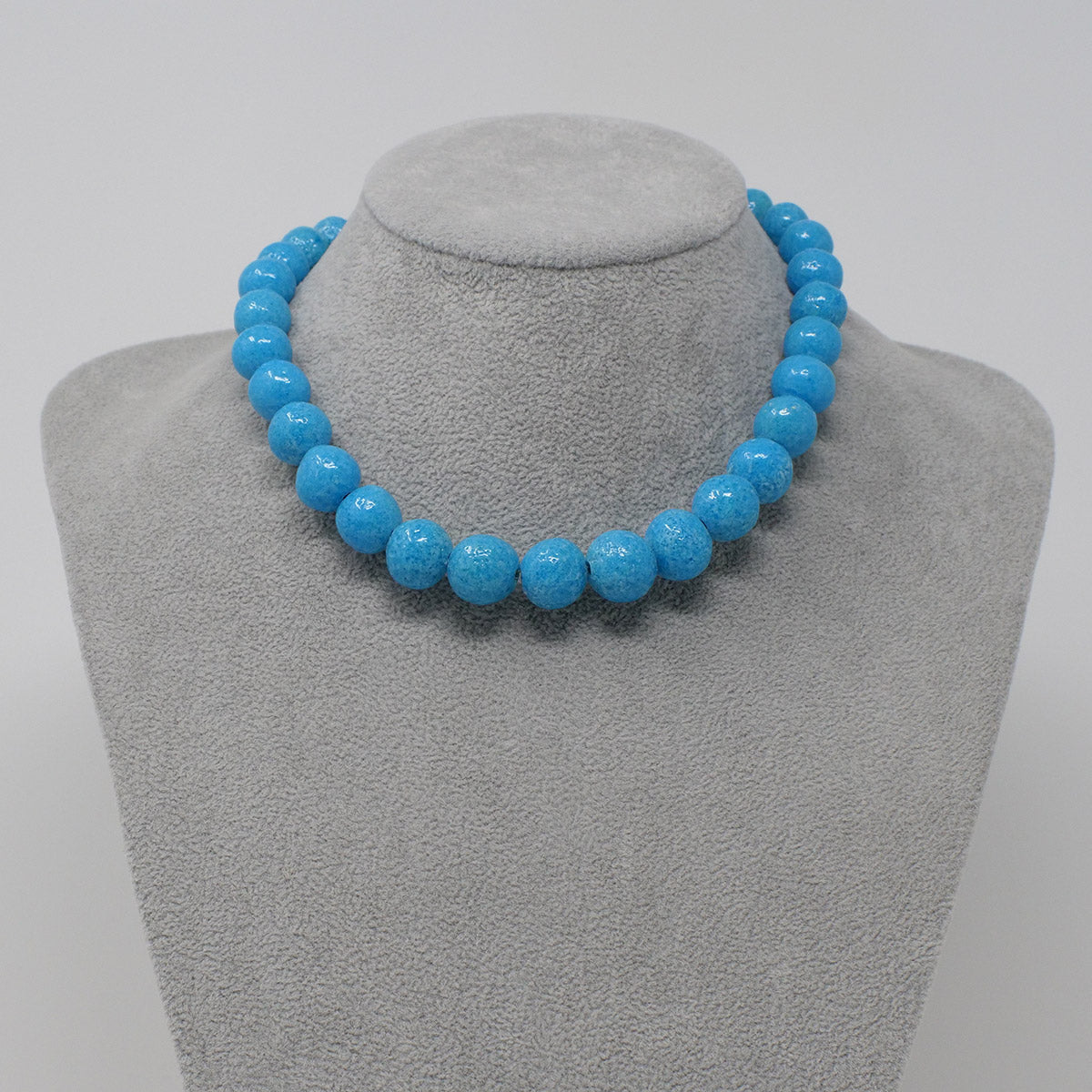 "Ouroborus Necklace in ""Egyptian Sky"" Faience Beads - ""Ouroborus Collection"""