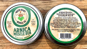 Green Heart Herbal Co. Arnica Muscle Rub