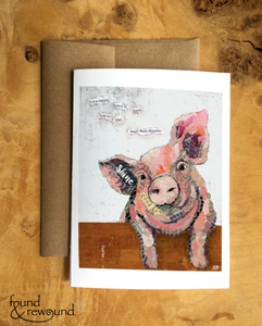 Happy Pig Card