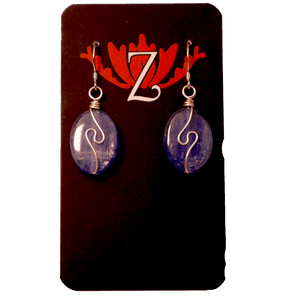 Zen Lotus Earrings Kyanite