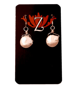 Zen Lotus Earrings Mother of Pearl