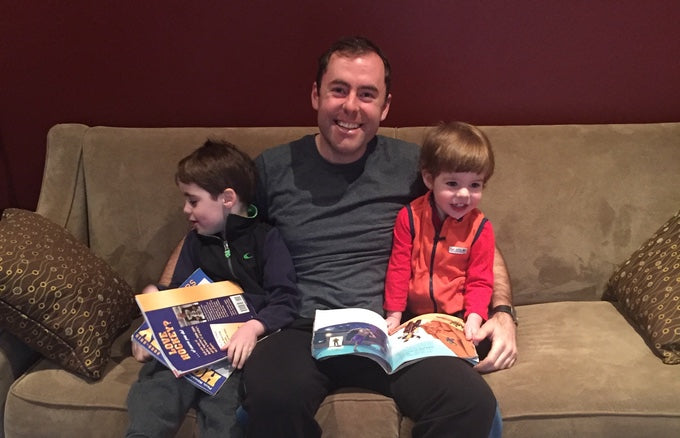 Hey Rocco founder, Jason Oakley, with his two nephews