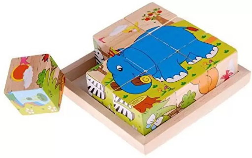 Wooden Cube Jigsaw Puzzle