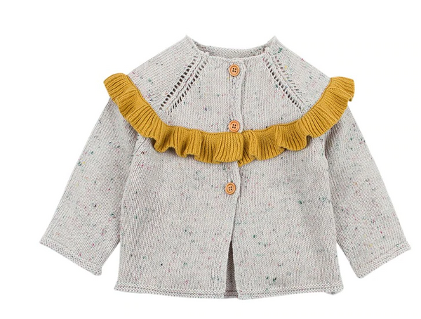 Ruby's Ruffled Confetti Cardigan