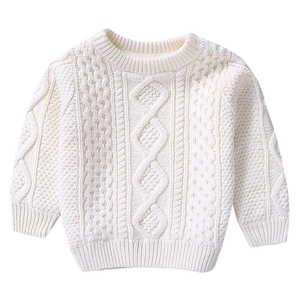 Clarissa's Creamy White Knit Sweater