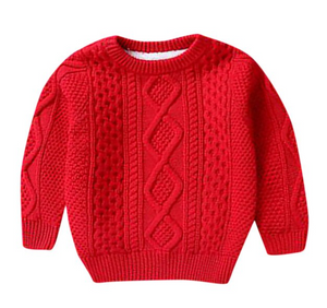 Randy's Red Sherpa Lined Knit Sweater
