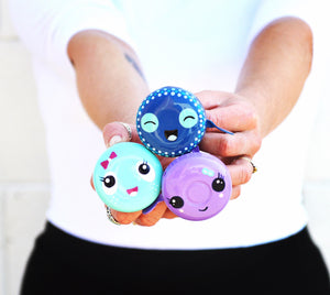 Cute Face Hand Painted Bicycle Bike Bells