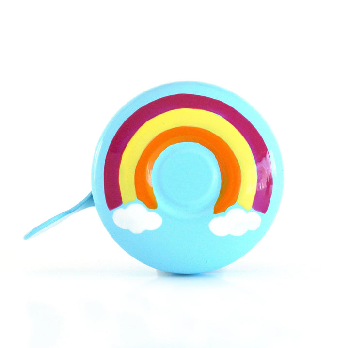 Beep colourful Rainbow with clouds on cool pale blue bike bicycle bell