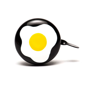 premium fried egg hand painted on black bicycle bell