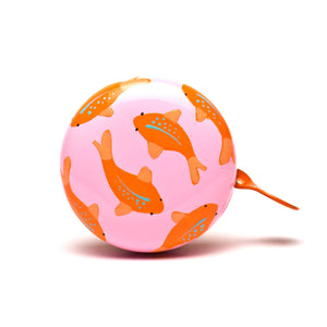 premium cute orange koi fish hand painted on pale pink bicycle bell