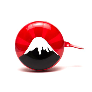 premium mount fuji hand painted on red bicycle bell