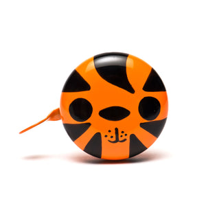 premium tiger hand painted orange black bicycle bell